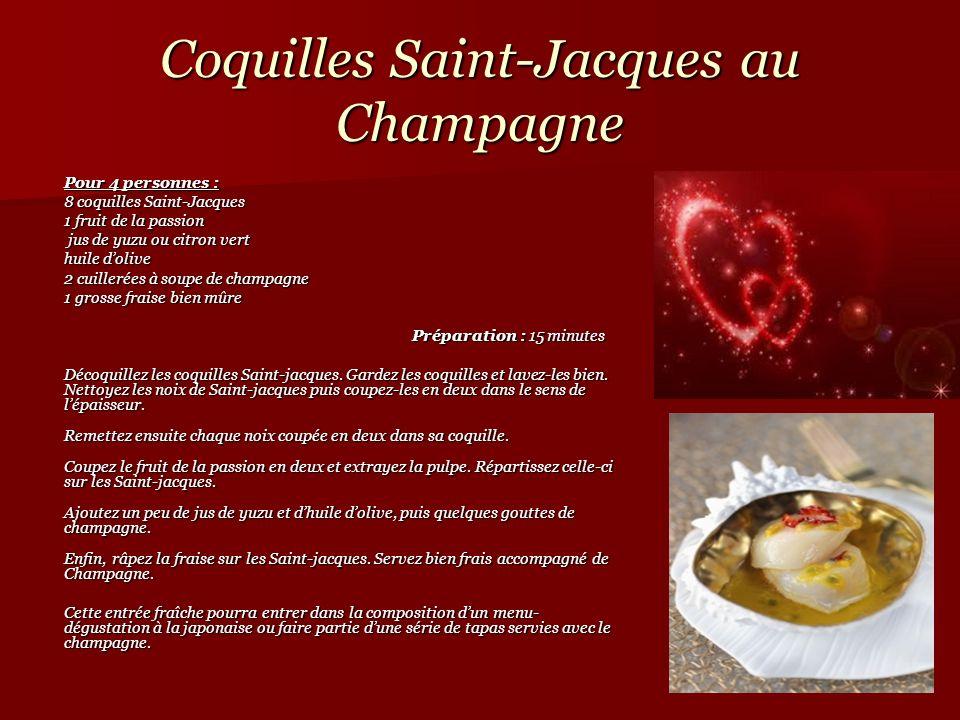 Coquilles Saint-Jacques au Champagne