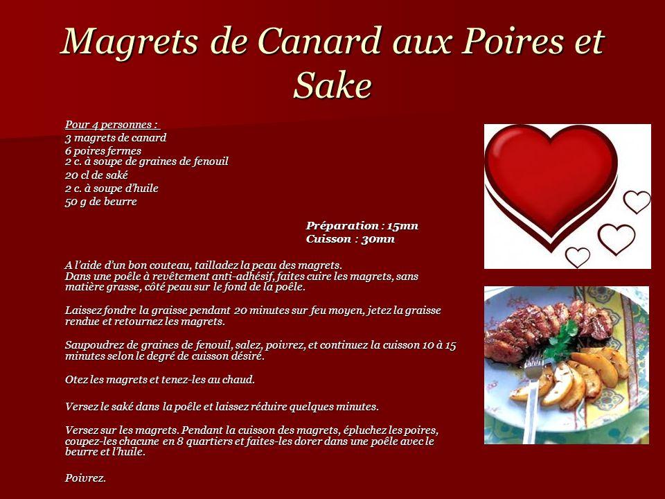 Magrets de Canard aux Poires et Sake