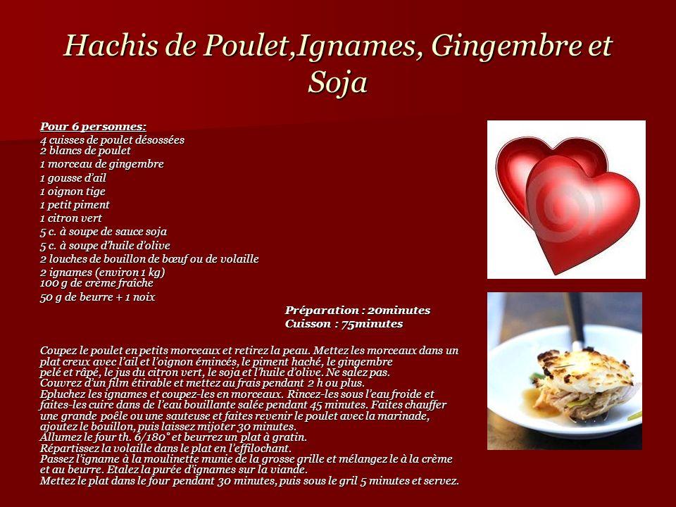 Hachis de Poulet,Ignames, Gingembre et Soja