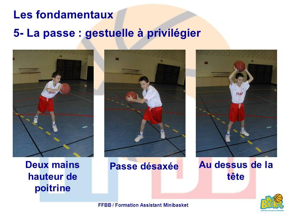 Deux mains hauteur de poitrine FFBB / Formation Assistant Minibasket