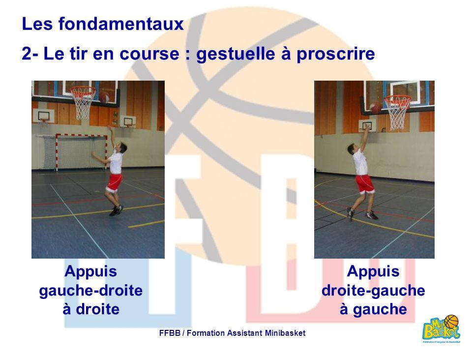 Appuis gauche-droite à droite FFBB / Formation Assistant Minibasket