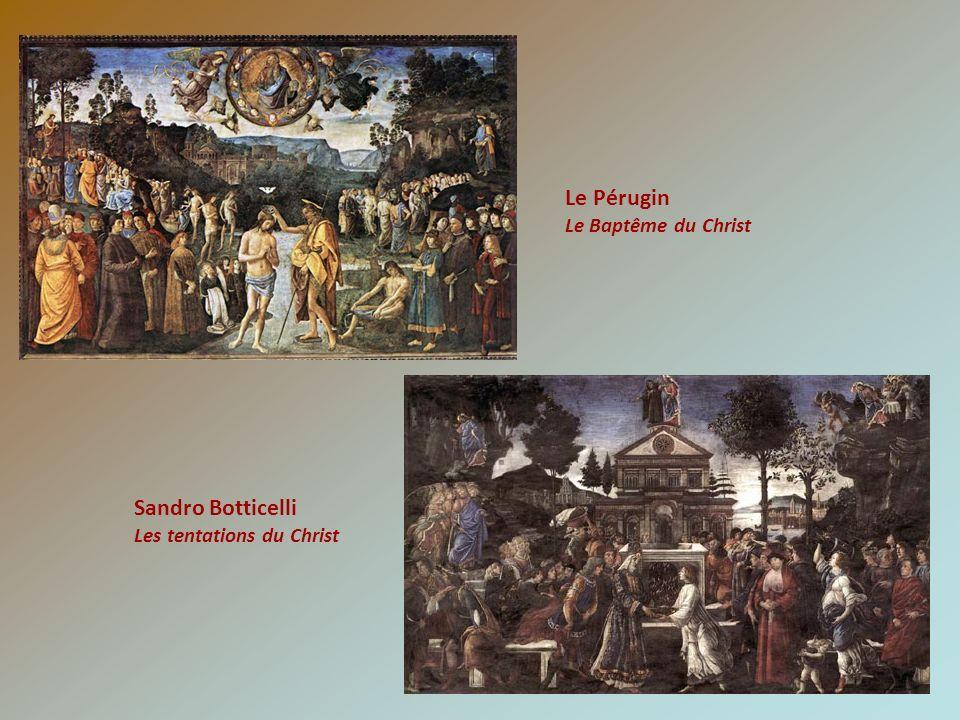Le Pérugin Sandro Botticelli Le Baptême du Christ