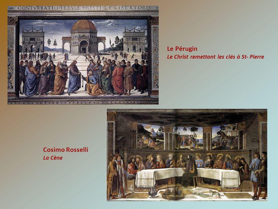 Le Pérugin Cosimo Rosselli Le Christ remettant les clés à St- Pierre