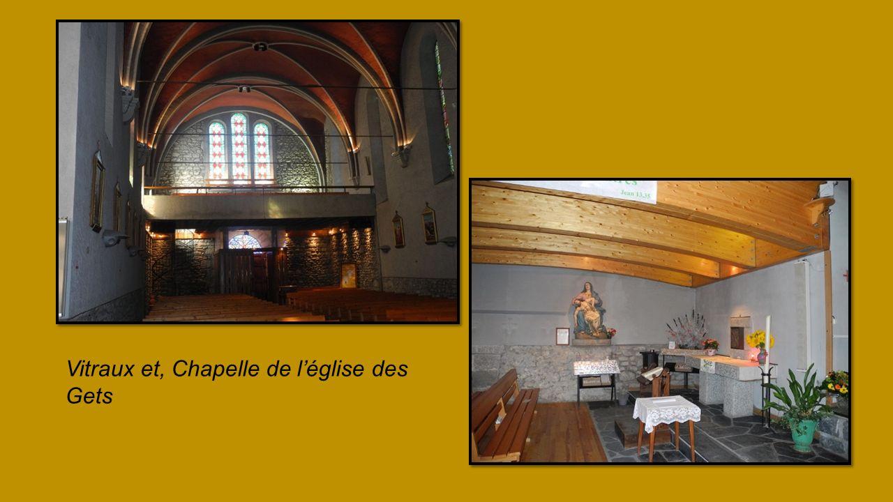 Vitraux et, Chapelle de l'église des Gets