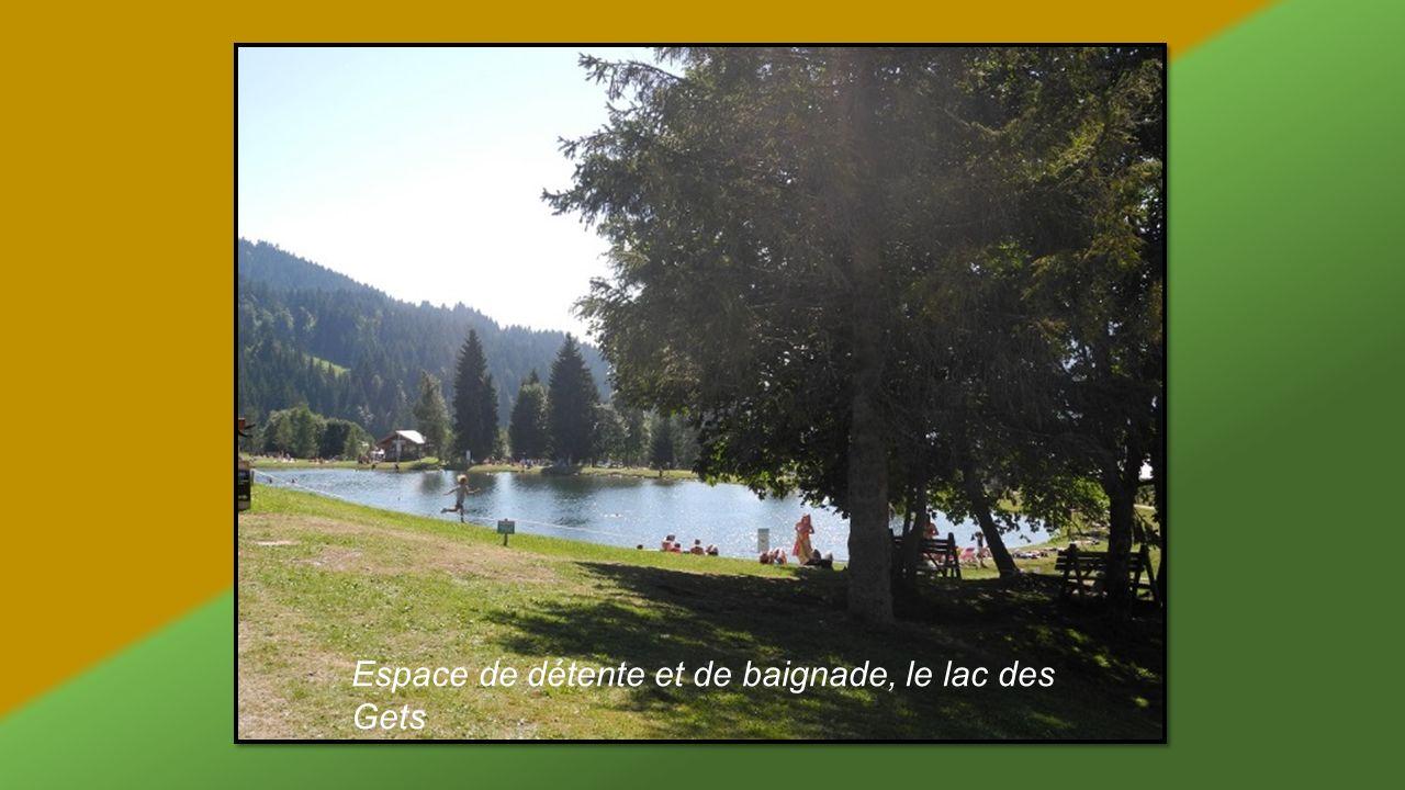 Espace de détente et de baignade, le lac des Gets