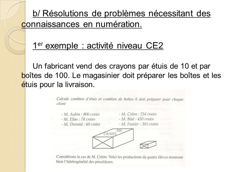 1er exemple : activité niveau CE2