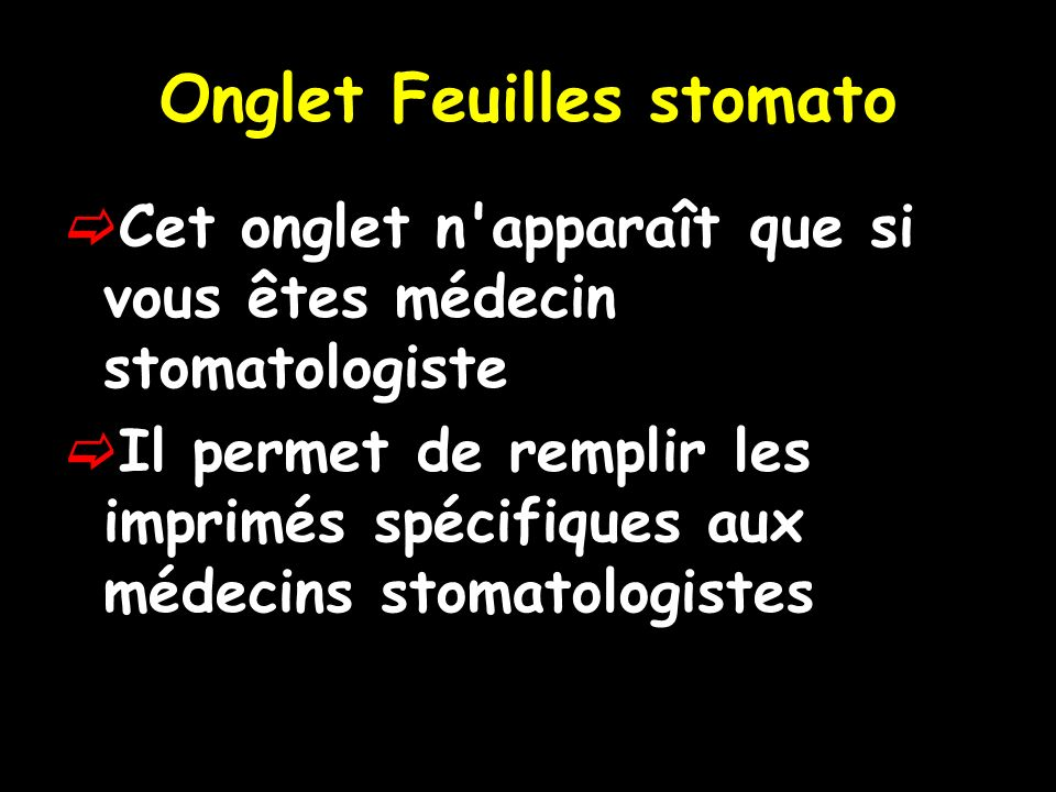 Onglet Feuilles stomato