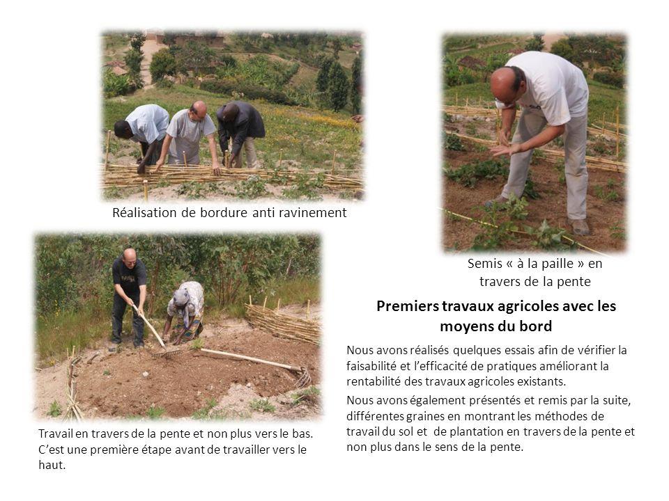 Premiers travaux agricoles avec les moyens du bord