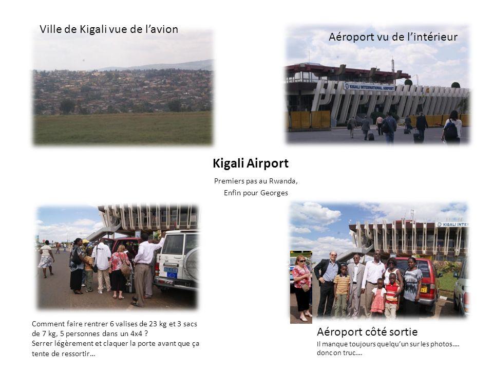 Kigali Airport Ville de Kigali vue de l'avion