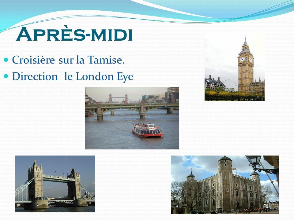 Croisière sur la Tamise. Direction le London Eye