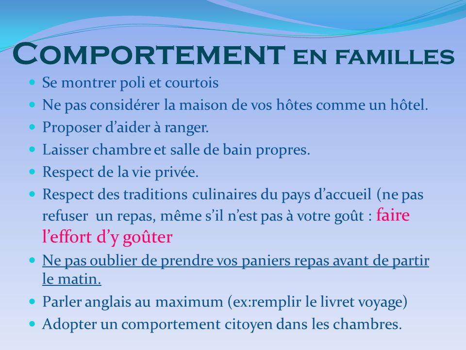 Comportement en familles