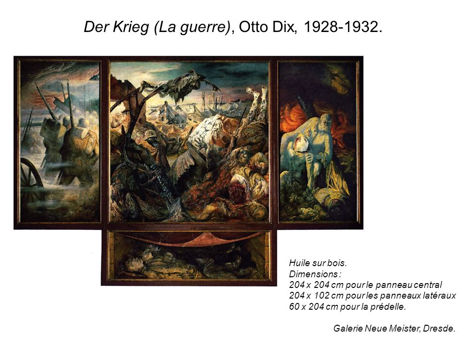 Der Krieg (La guerre), Otto Dix, 1928-1932.