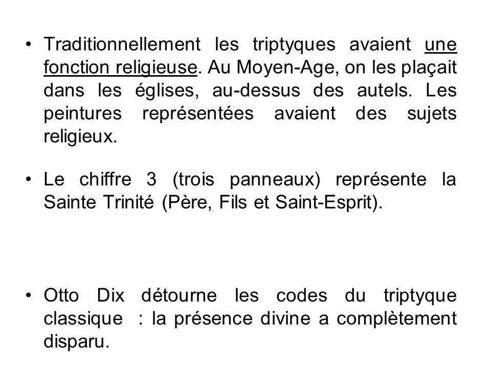 Traditionnellement les triptyques avaient une fonction religieuse