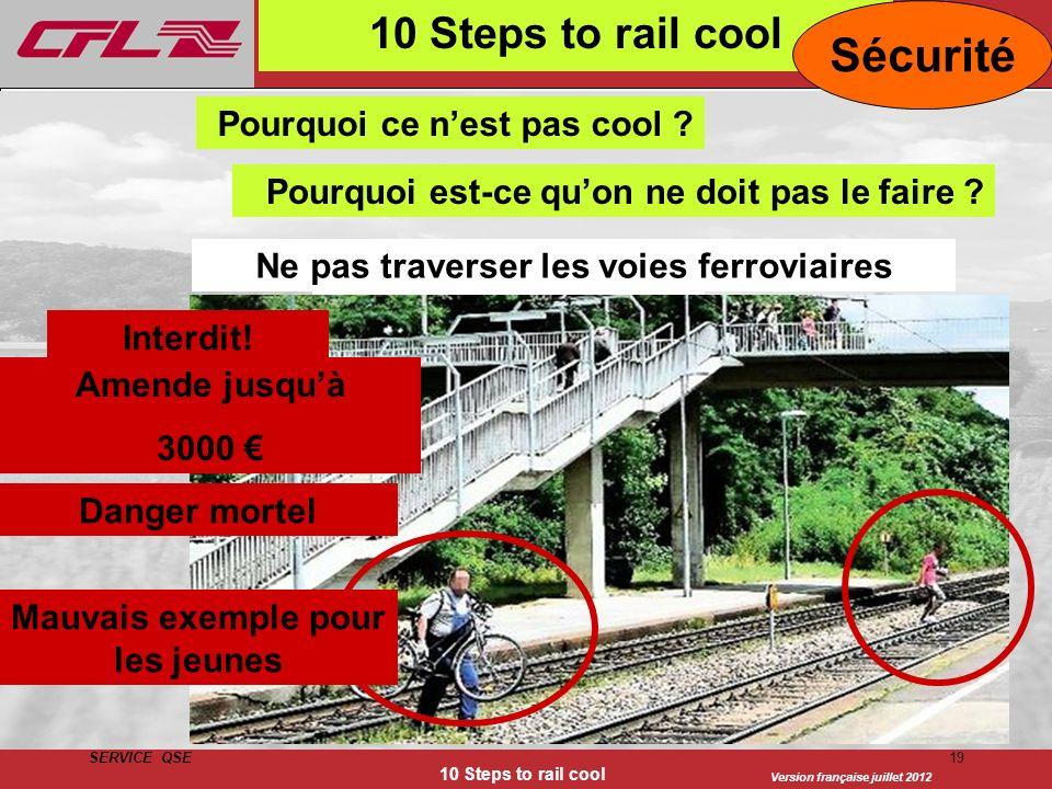 Sécurité 10 Steps to rail cool Pourquoi ce n'est pas cool