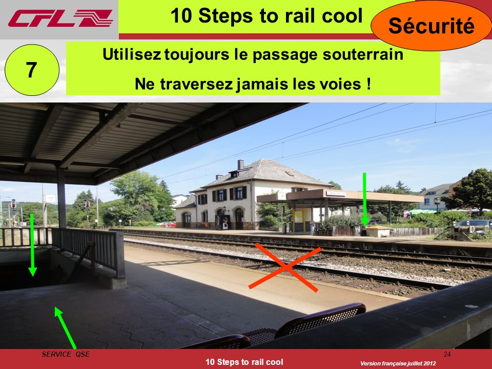 Sécurité 7 10 Steps to rail cool