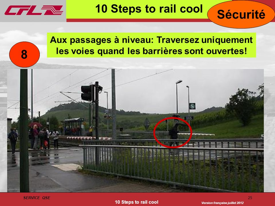 Sécurité 8 10 Steps to rail cool