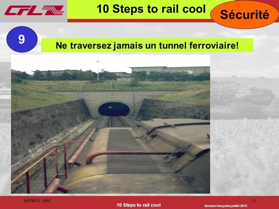 Ne traversez jamais un tunnel ferroviaire!