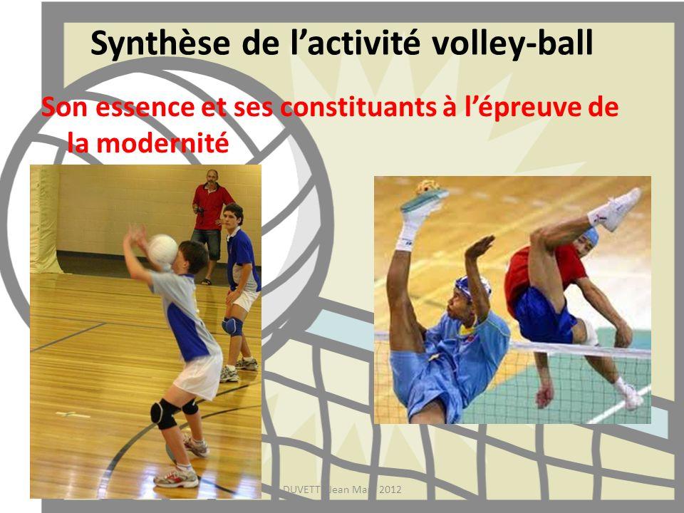 Synthèse de l'activité volley-ball