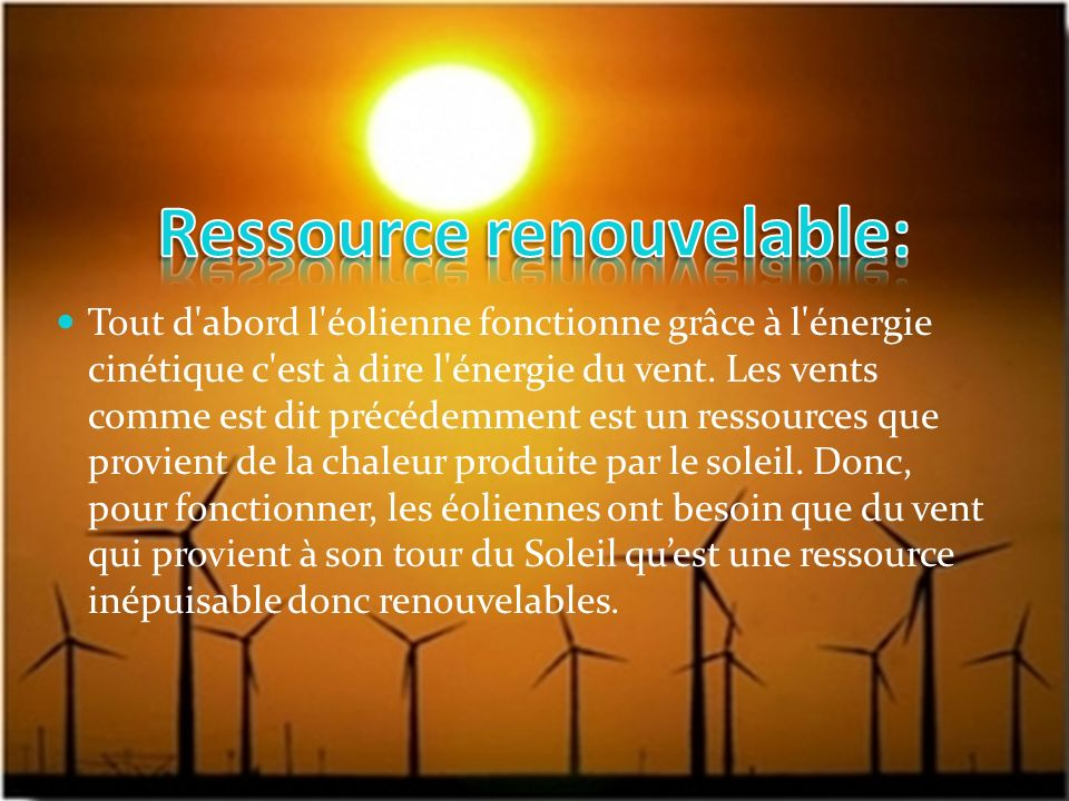 Ressource renouvelable: