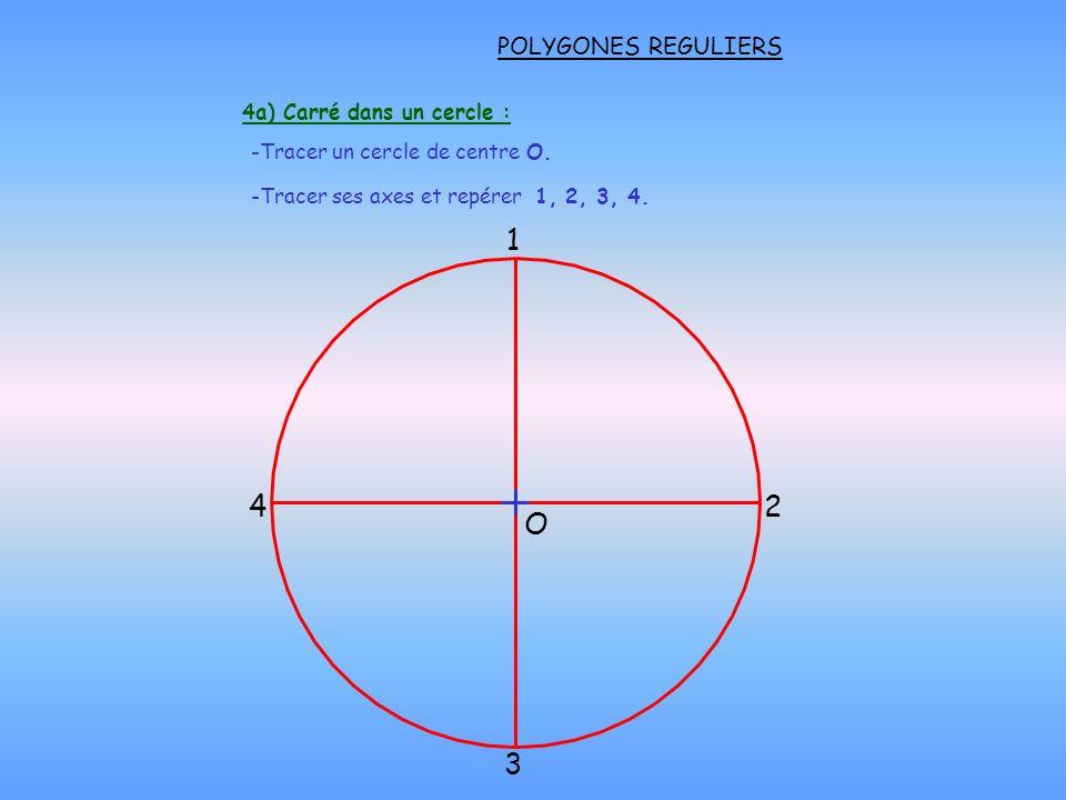 4a) Carré dans un cercle :