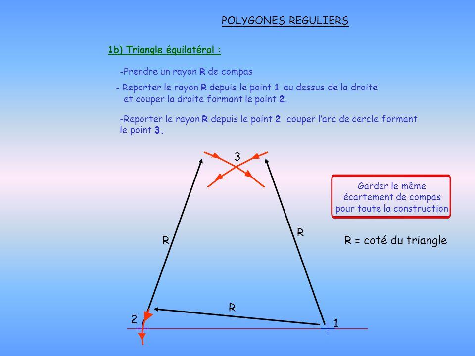 1b) Triangle équilatéral :