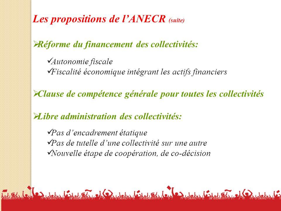 Les propositions de l'ANECR (suite)