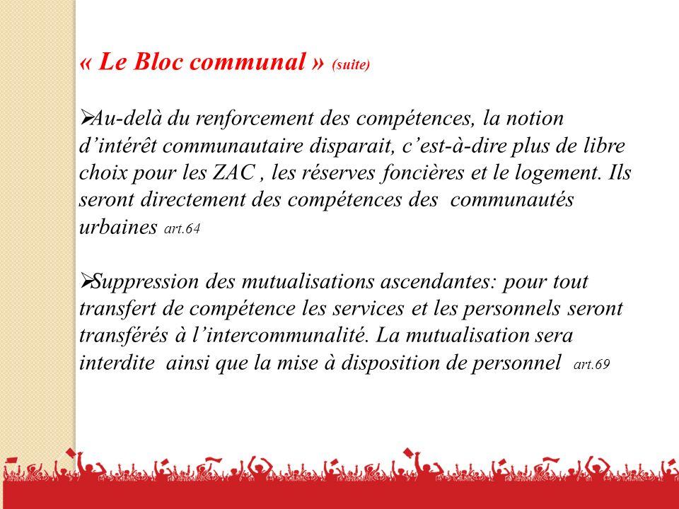 « Le Bloc communal » (suite)