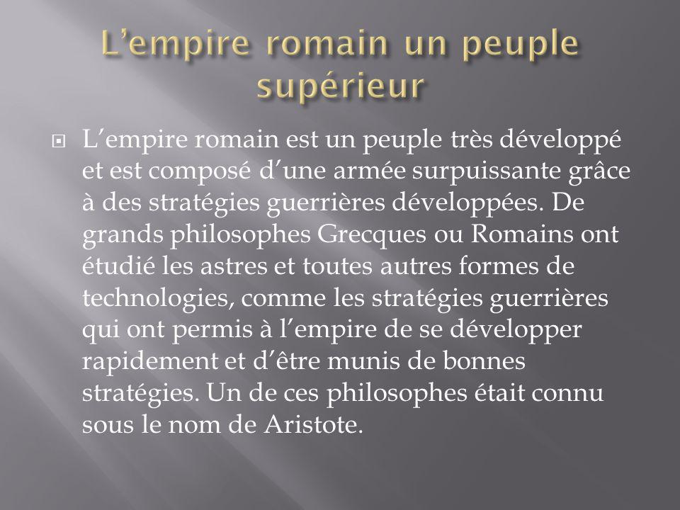 L'empire romain un peuple supérieur