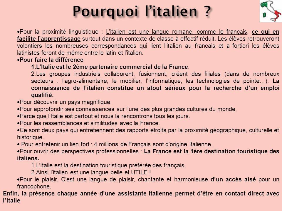 Pourquoi l'italien