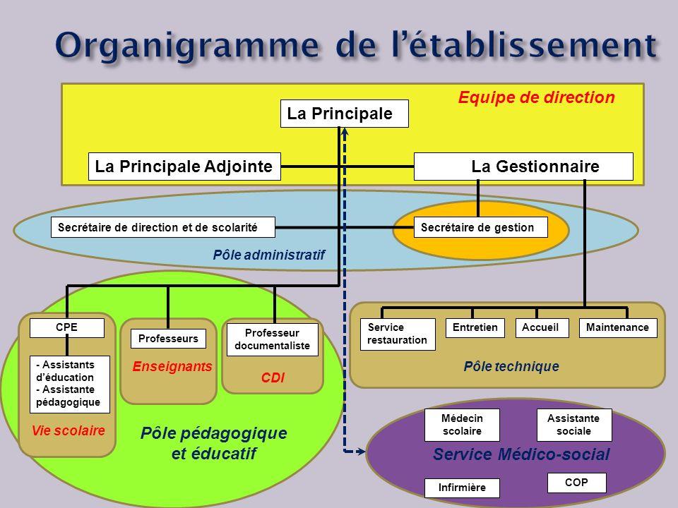 Organigramme de l'établissement