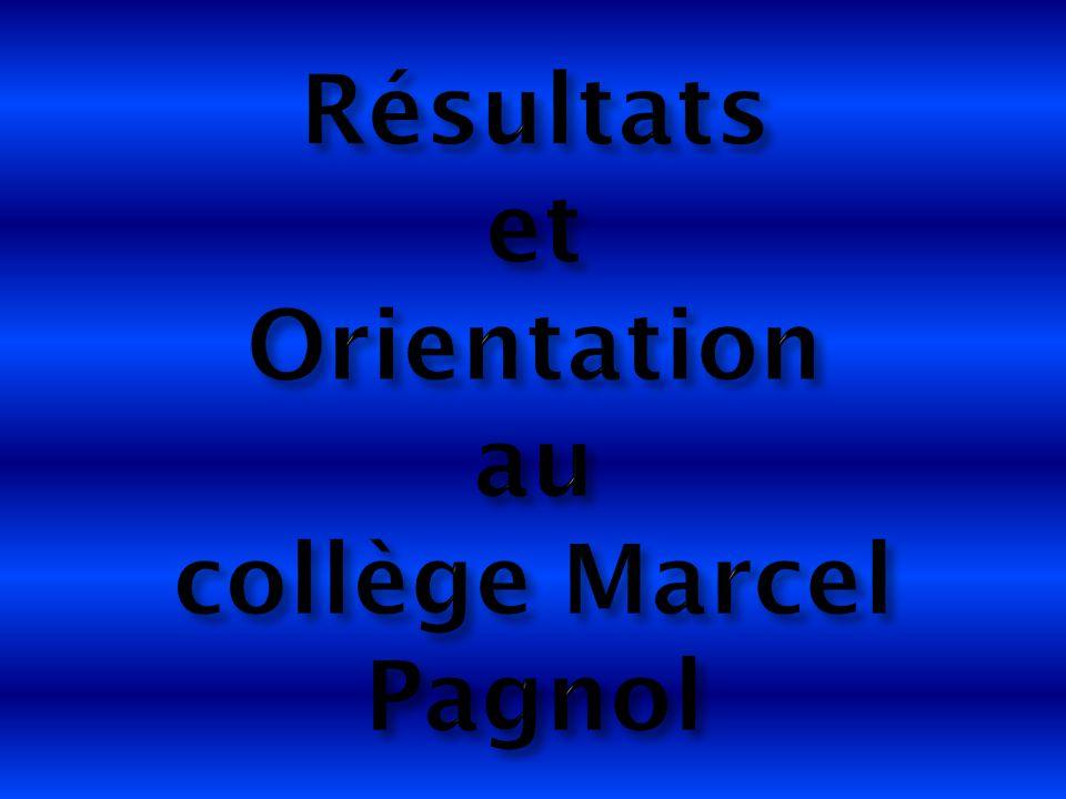 Résultats et Orientation au collège Marcel Pagnol