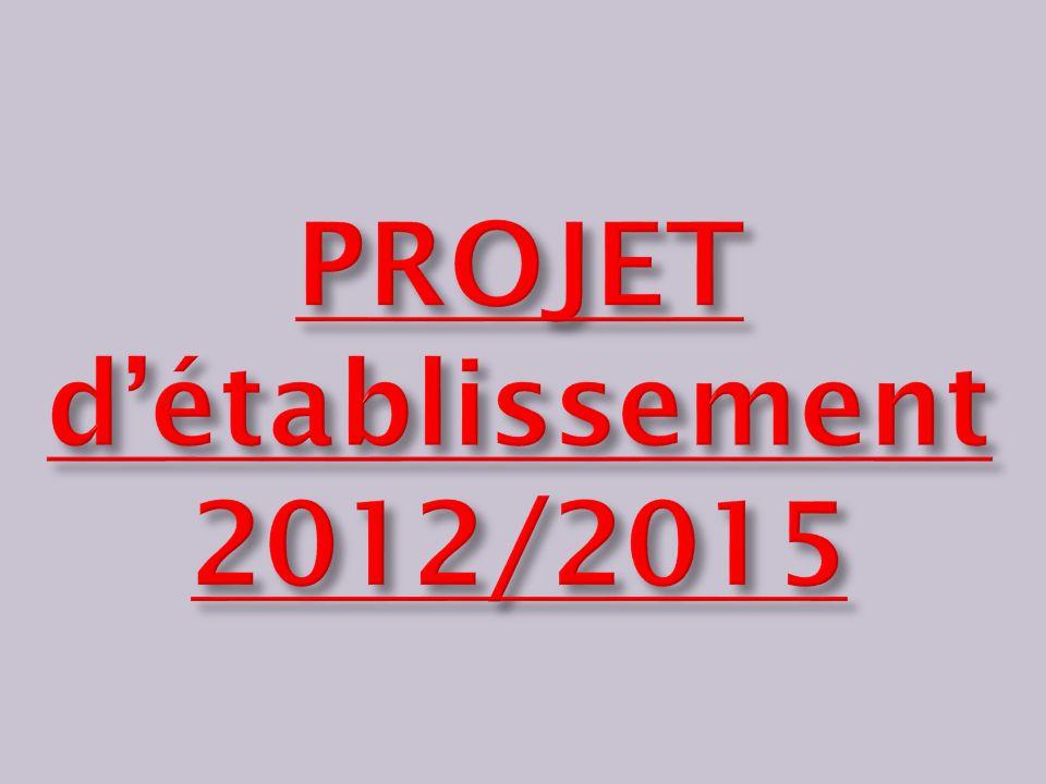 PROJET d'établissement 2012/2015