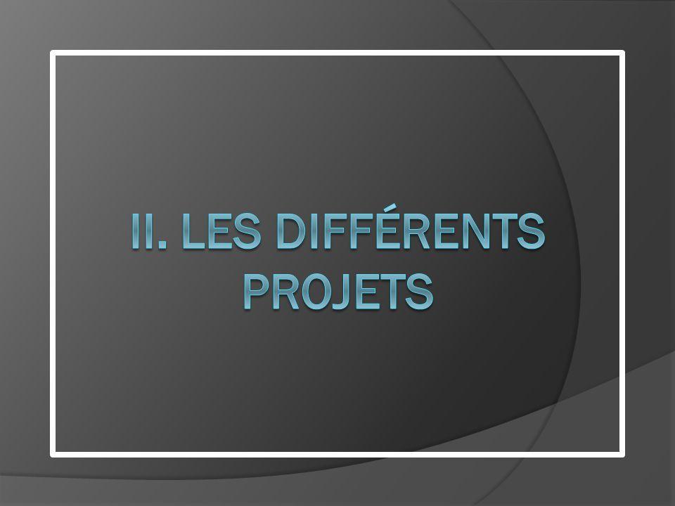 II. LES Différents projets
