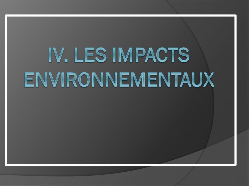 IV. LES impacts environnementaux