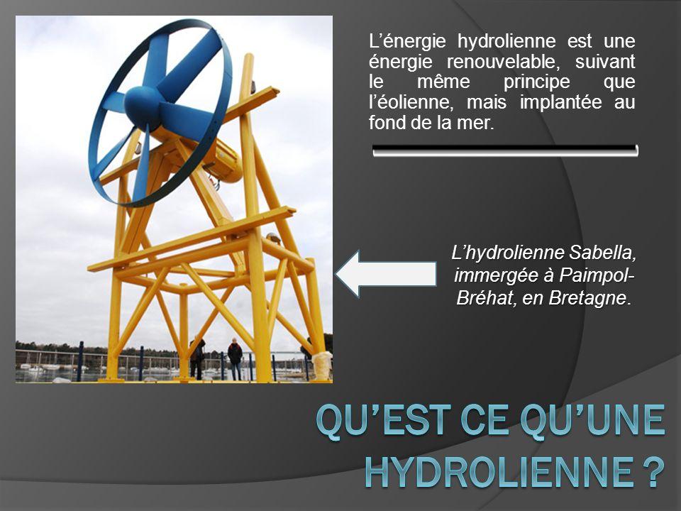 QU'est ce qu'une hydrolienne