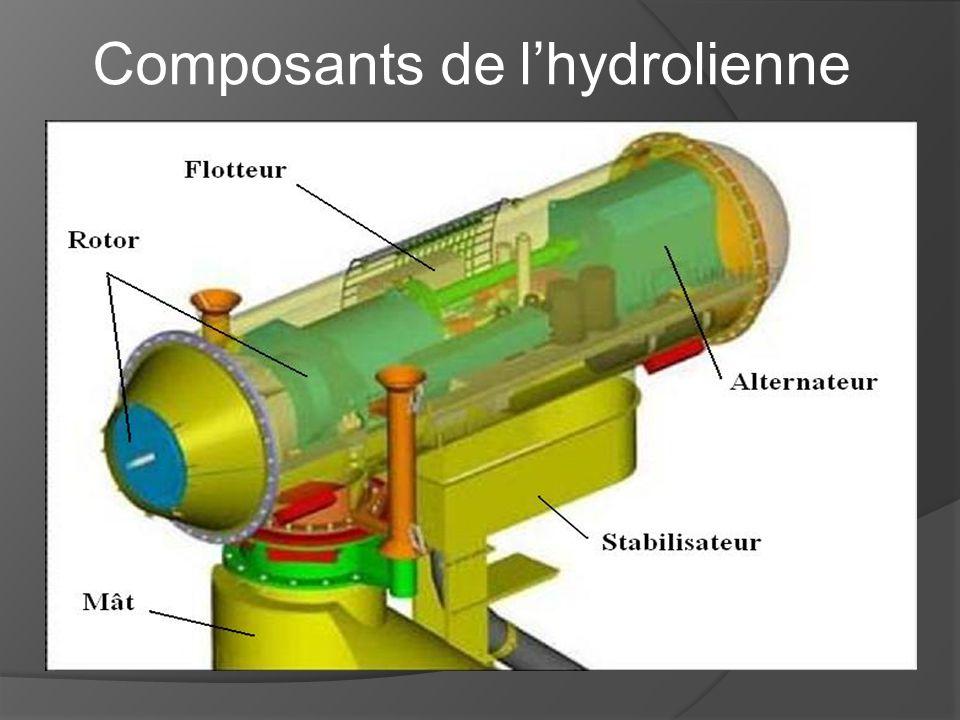 Composants de l'hydrolienne