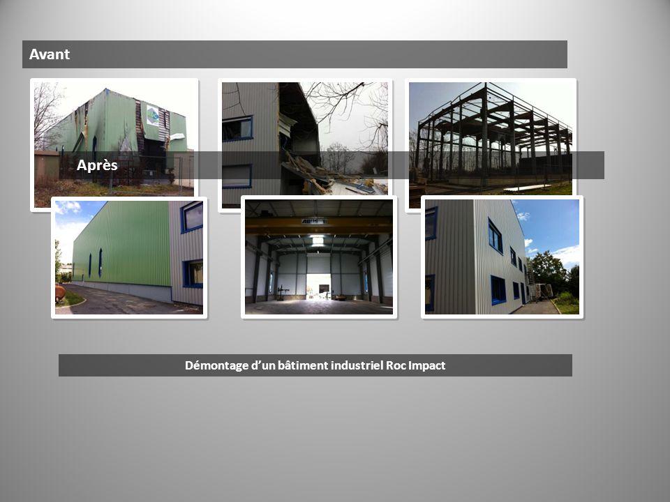 Démontage d'un bâtiment industriel Roc Impact