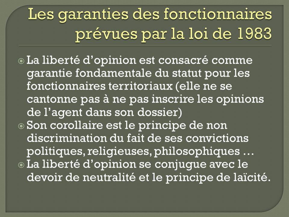 Les garanties des fonctionnaires prévues par la loi de 1983