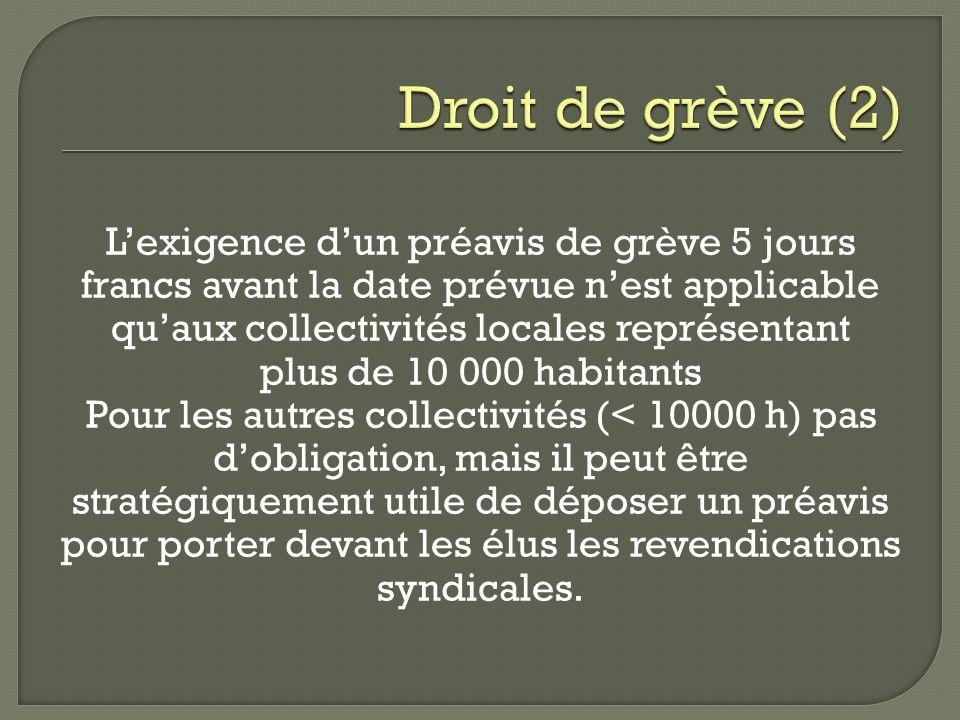 Droit de grève (2)