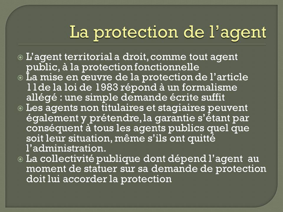 La protection de l'agent