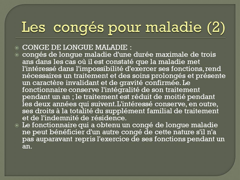Les congés pour maladie (2)