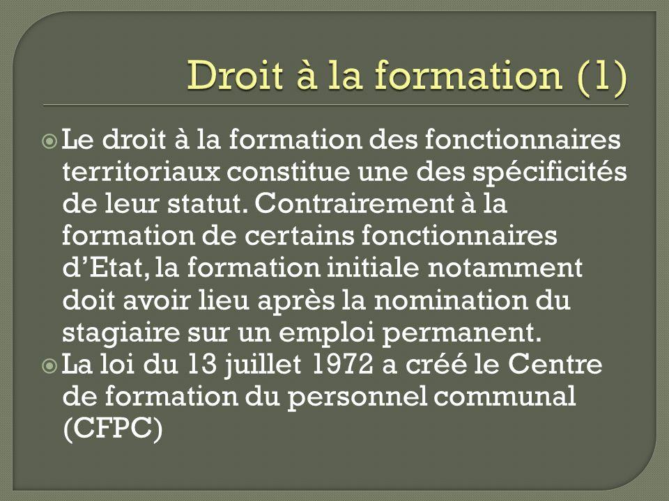 Droit à la formation (1)