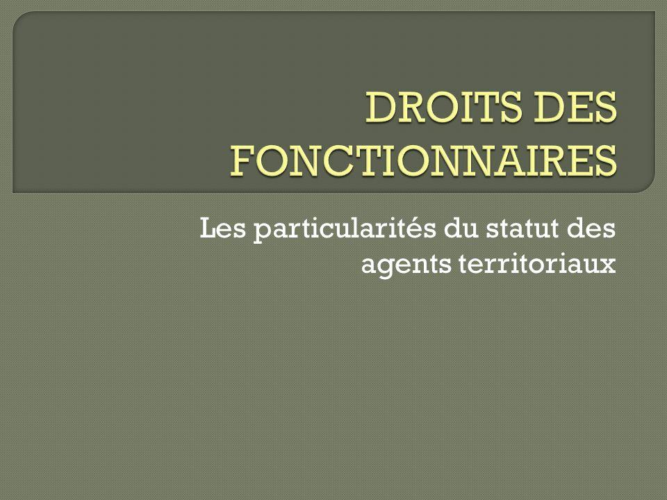 DROITS DES FONCTIONNAIRES