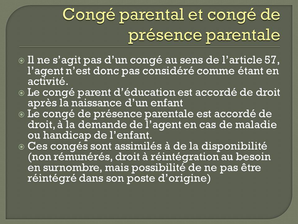Congé parental et congé de présence parentale
