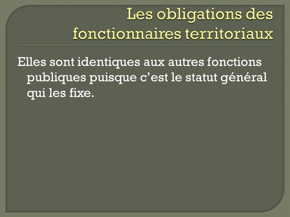 Les obligations des fonctionnaires territoriaux