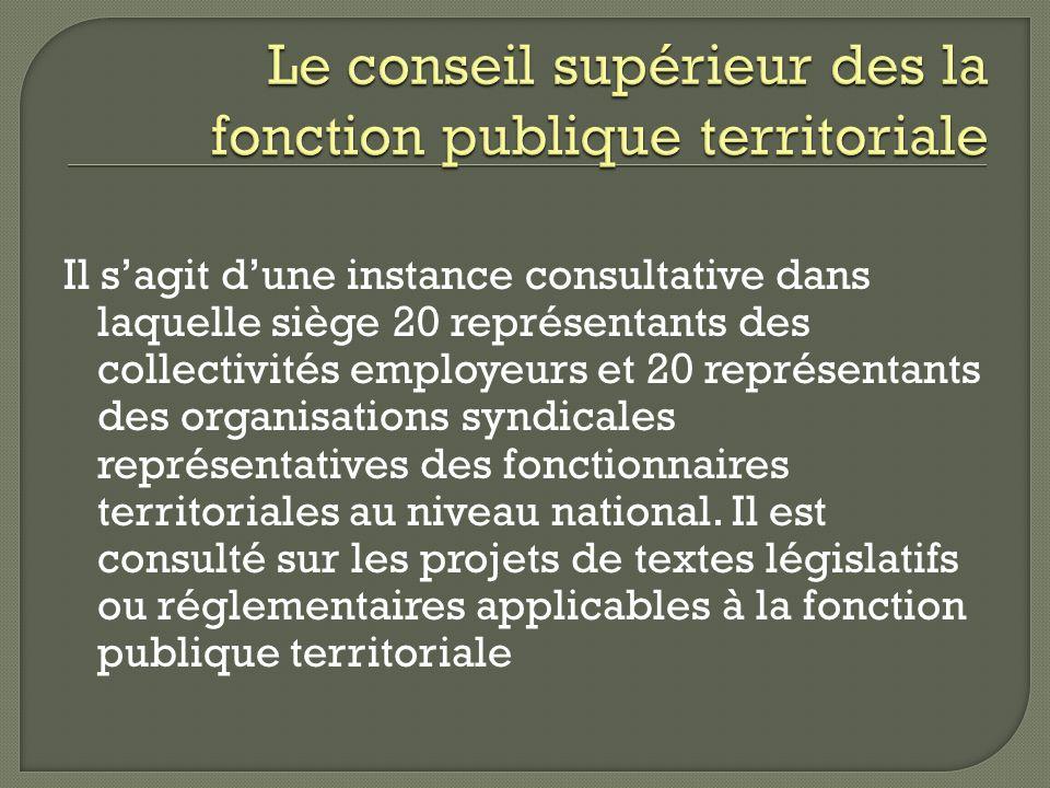 Le conseil supérieur des la fonction publique territoriale