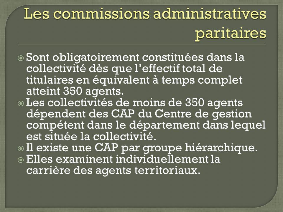 Les commissions administratives paritaires