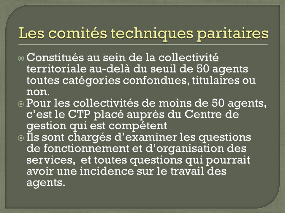 Les comités techniques paritaires