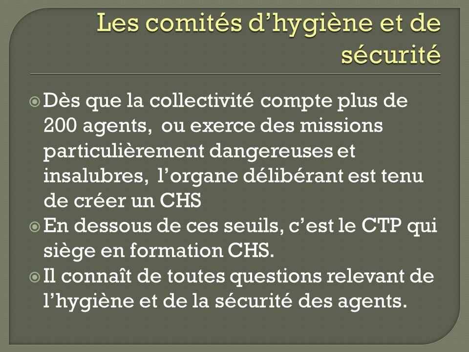 Les comités d'hygiène et de sécurité