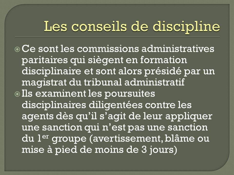 Les conseils de discipline